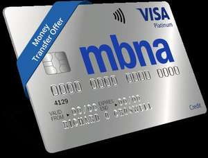 MBNA Platinum Credit Card - 0% on money transfers for up to 36 months - 2.99% handling fee