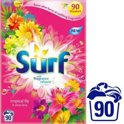 Surf Tropical Lily & Ylang Ylang Washing Powder 90 Wash  6.3kg Half price £7 @ Morrisons