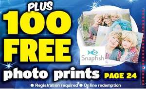 "Daily Star FREE Snapfish 100 6"" x 4"" Prints Worth £9 (Plus £3.99 Postage)"