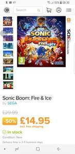 Sonic Boom: Fire & Ice 3ds £14.95 Del @ Coolshop
