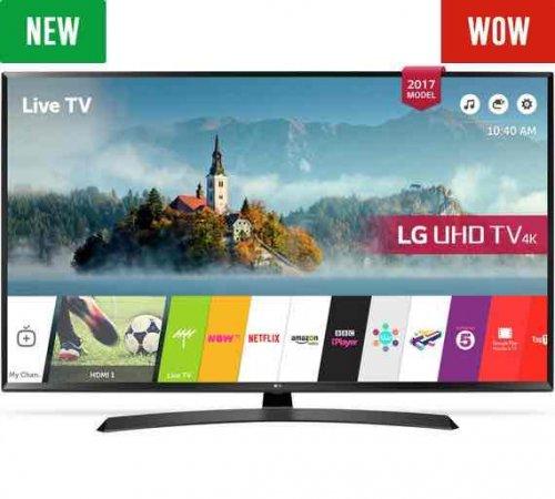 LG 49UJ635V 49 Inch Smart 4K Ultra HD TV with HDR £494.10 - Argos