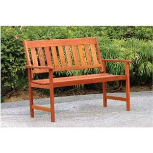 Garden Bench - All Wood - Large 2 Seater - Great waterproof hardwood Quality! £34.99 instore @ B&M