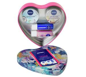Nivea Luscious moments lip tin gift set with 2 lip butters and 2 lip shines now £2.99 @ Argos