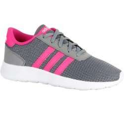 ADIDAS Lite Racer children's walking and school sports shoes - grey/pink £14.99 Reduced from £21.99 Free C+C to any Asda from tomorrow or Free to  Any Decathlon Store Now @ Decathlon