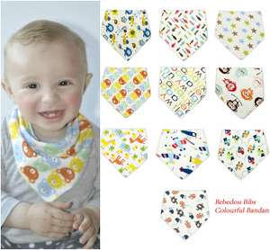 Bebedou 10 Pack Boys Pure Cotton Dribble Bibs / Bandana £9.59 Del Prime / £13.58 Non Prime @ Amazon (Girls £9.99) Sold by Eccozz and Fulfilled by Amazon.