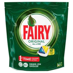 Fairy Original all in one dishwasher tablets (67) ASDA - Kingsthorpe was £11 now £3.50