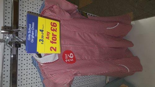 2 for £6 on Girls School Gingham Dresses - Boyes Stores