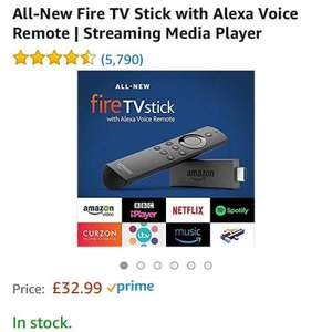 Amazon Fire TV Stick only £32.99 at Amazon