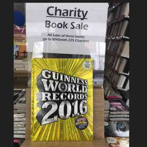 W H Smith charity book sale, all money goes to charity, inc 2016 Guinness book of records for 50p