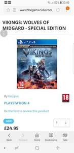 VIKINGS: WOLVES OF MIDGARD - SPECIAL EDITION PS4 £24.95 @ The game collection
