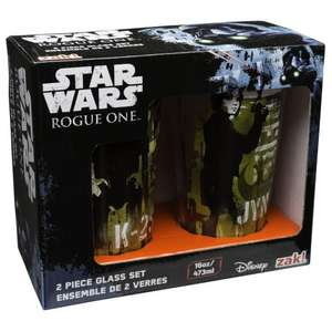 Star Wars Rogue One: Pint Glass Set £1.49 @ Home Bargains