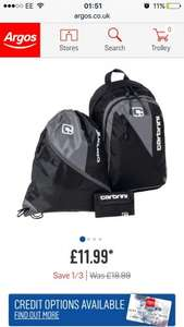 3 piece carbrini back pack set ready for the next school term £11.99 - Argos free C&C
