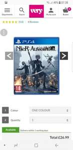 Playstation 4 Nier Automata - PS4 £26.99 at VERY