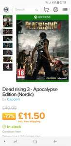 Dead rising 3 - Apocalypse Edition (Nordic) XBOX ONE £11.50 at Coolshop