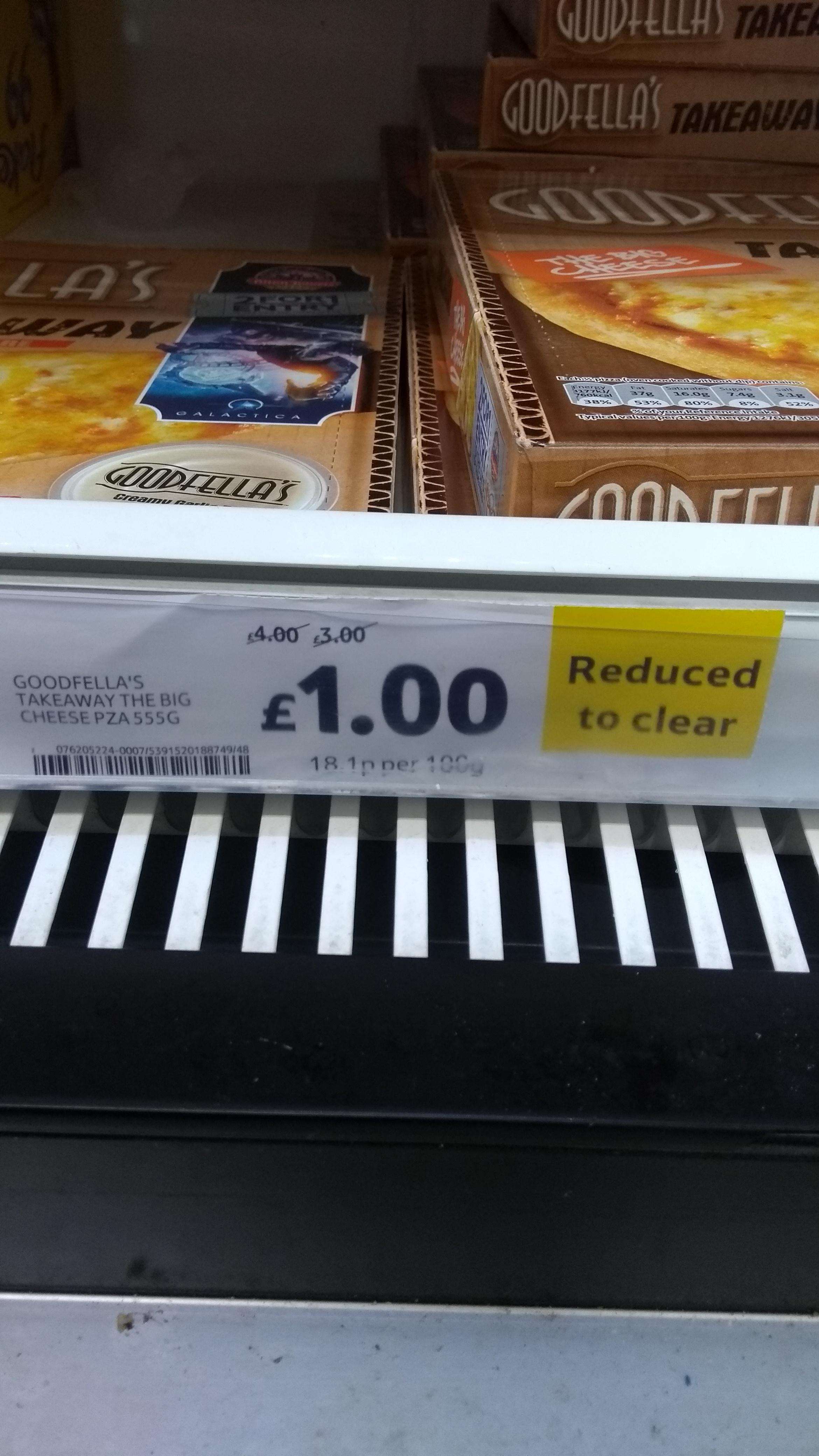 Goodfellas take away pizza - £1 instore @ Tesco (Carlisle)