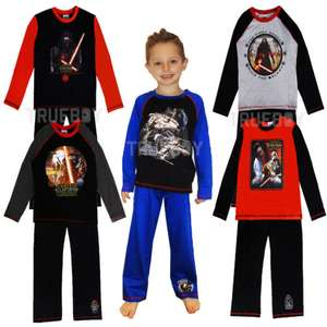 Official Disney Star Wars PJ's in 5 different designs ages 4 - 10 now £5 each delivered @ eBay sold by trueboypoole