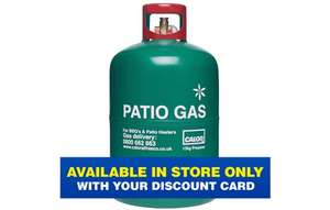 Calor patio gas refill 13kg £28.79 plus £5 membership @ Go Outdoors instore