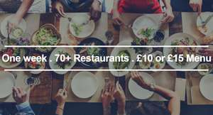 £10 or £15 meal at any restaurant participating in Leeds Restaurant Week 2017
