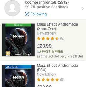 Mass Effect Andromeda (PS4/Xbox One) £22.99 Boomerang on eBay