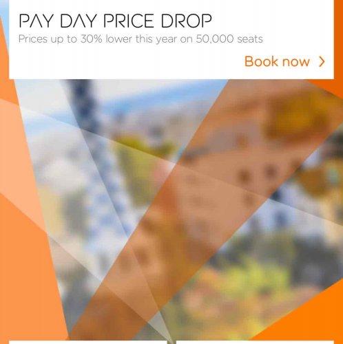 EasyJet price drop 30%