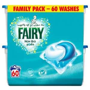 Half price Ariel/Fairy Pods 60 pack at Wilko for £5.50