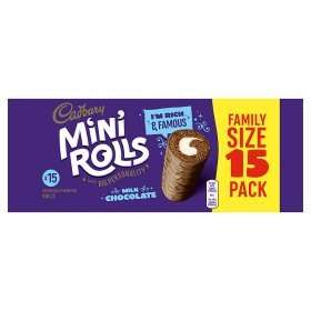Cadbury Milk Chocolate Mini Rolls (15 for the price of pack) Rollback Deal  was £2.00 now £1.50 @ Asda