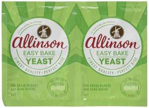 Attention Bakers! Allinson Easy Bake Yeast 14 g (Pack of 24) - Amazon £2.06 - Add on item