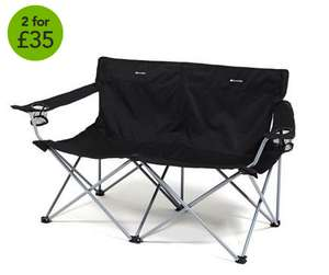 Double camping chair £17 or 2 for £33 at Millets (Using code / Price includes C&C)
