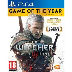 The Witcher 3: Wild Hunt - Game of the Year Edition for PS4 £18.95 delivered @ The Game collection