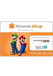 $10 eShop (US) Card £5.36 @ PCGamesupply