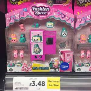 Shopkins Gym Fashion Spree £3.48 reduced to clear in store Tesco Chorley