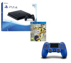 SONY PS4 Slim 500 GB + FIFA 17 + DualShock 4 V2 Wireless Controller Bundle £229.99 @ Currys