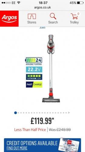 Vax Slim Vac Pet Cordless Vacuum Cleaner- TBTTV1P1 £119.99 @ Argos