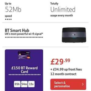 BT Unlimited Infinity Broadband 52MB - £134.87 after cashback over 12 months