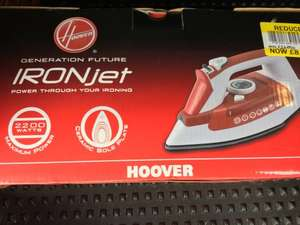 Hoover steam iron reduced to £8.25 in store Tesco (Launceston)