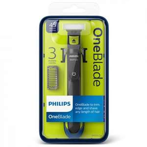 Philips Oneblade QP2520/25 with 3 Stubble Combs at Superdrug £23.32