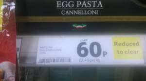 Napolina Egg Canellonni 250g was £1.40 reduced to 60p in tesco colchester