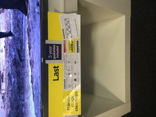 "Samsung 49"" KS7000 4K SUHD - £439.97 in selected PCWorld stores"