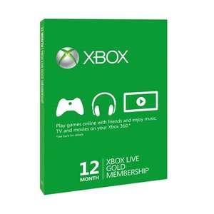Xbox Live 12 months for £30 / 3 Months Gold Membership Card for £7 @ Smyths Online