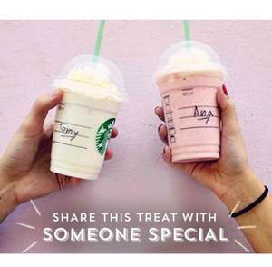 Starbucks buy one get one Free on frappuccino