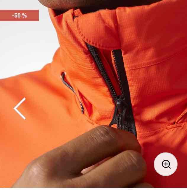 adidas Terrex wandertag men's climaproof outdoor jacket orange £31.98 click n collect @ adidas.co.uk trekking hiking outdoor