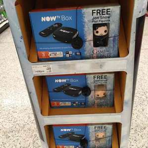 now tv box with games of thrones pop figure £20. Asda INSTORE