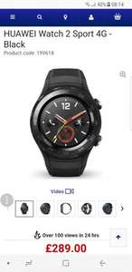 HUAWEIWatch 2 Sport 4G - Black £289 at Currys