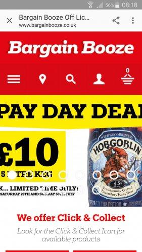 Hobgoblin 5l keg just £10 today until Sunday only! - Bargain Booze