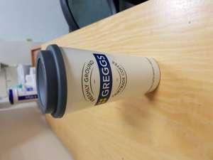 Free Coffee with reuseable cup for £2.00 at Greggs and get a free coffee and 20p off refills.