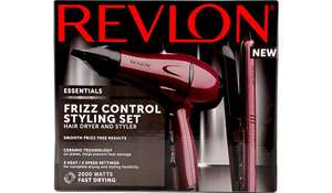 Revlon Essentials Frizz Control Styling Set - inc 2000w Hair Dryer + Straighteners was £39.96 now £20 C+C @ Asda George (+ more reduced in OP)