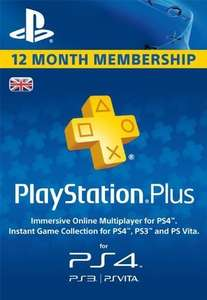PlayStation Plus 12 months £32.20 at cdkeys with fb code