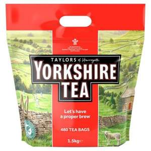 480 Yorkshire Teabags £7 were £10.97 @ Morrisons also Hard Water and Normal Versions £6.84 via Amazon