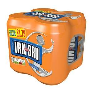 Irn-Bru 4x330ml cans for £1 at Cooperative Food
