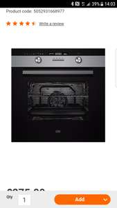 Cooke and Lewis oven at B&Q for £165